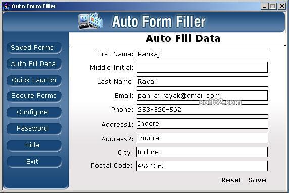 AutoFormFiller Pro Screenshot