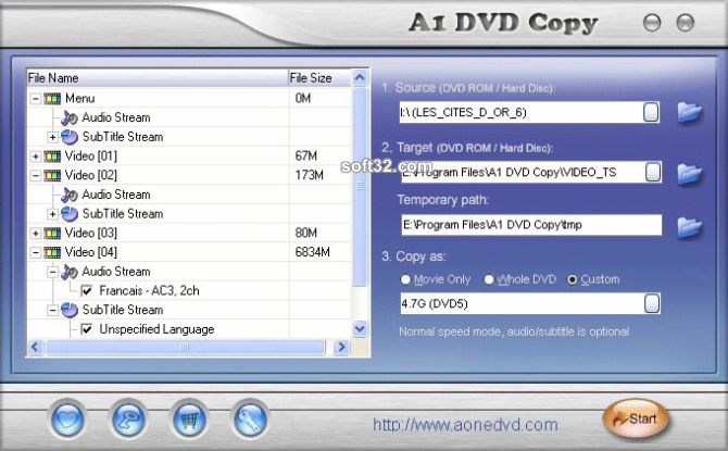 A1 DVD Copy Screenshot 2