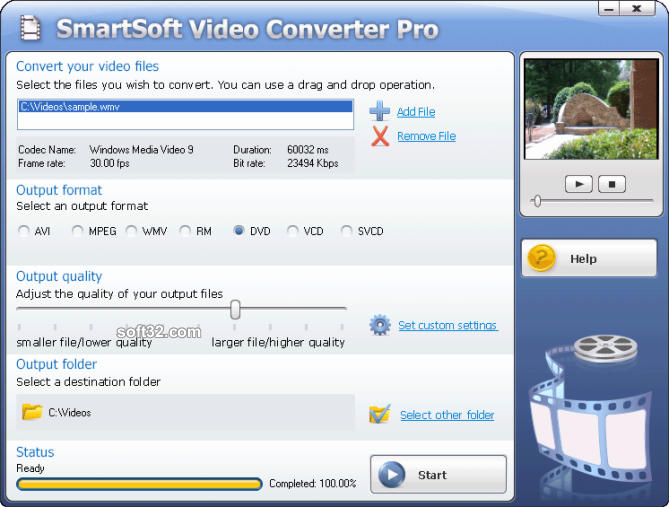 #1 SmartSoft Video Converter Screenshot 3
