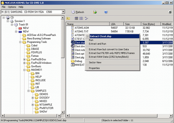 Nucleus Kernel for CD-DVD Data Recovery Software Screenshot