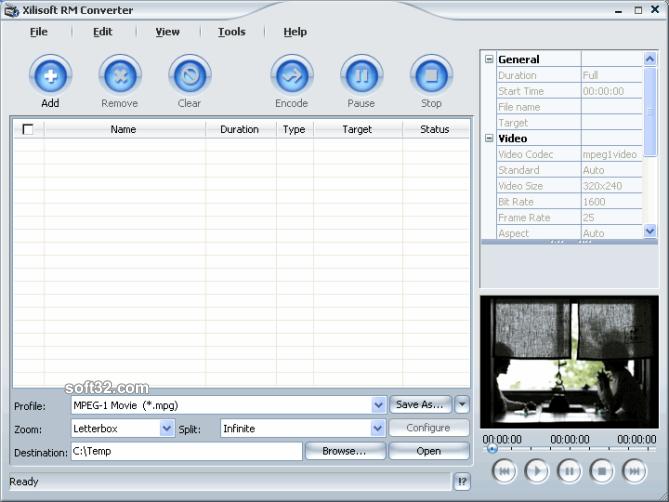 Xilisoft RM Converter Screenshot 3