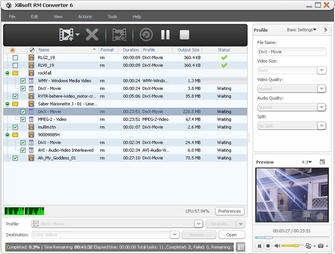 Xilisoft RM Converter Screenshot