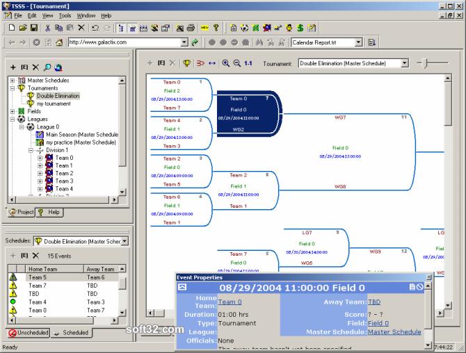 Team Sports Scheduling System Screenshot 3