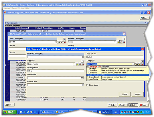 DataForms.Net with Source Screenshot 1