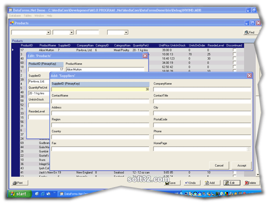 DataForms.Net with Source Screenshot 3