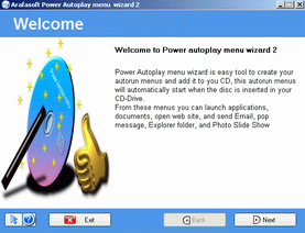 Power Autoplay menu wizard Screenshot 1