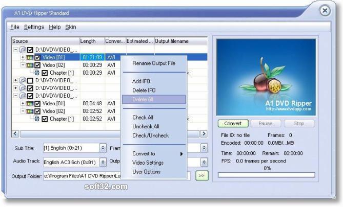 A1 DVD Ripper Screenshot 2