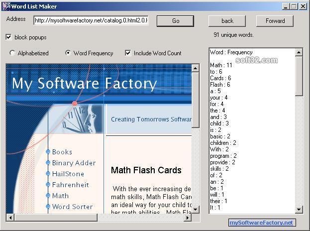 Word List Maker Screenshot 2