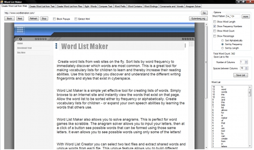 Word List Maker Screenshot 1