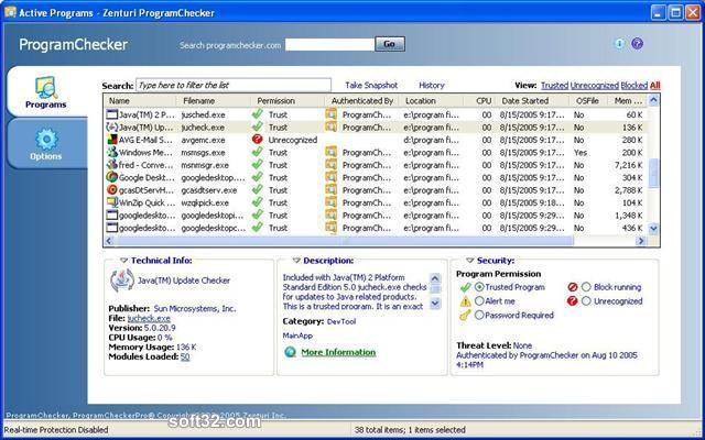 ProgramChecker Personal Edition Screenshot