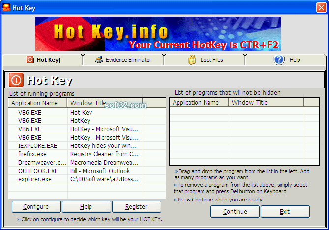 Hotkey.info Screenshot
