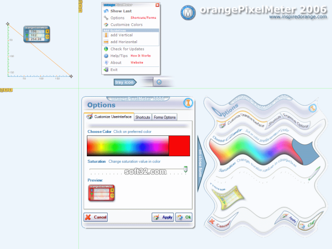 orangePixelMeter Screenshot