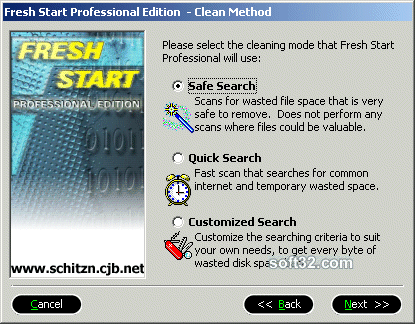 Fresh Start Professional Edition Screenshot
