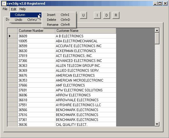 csv2dg Screenshot