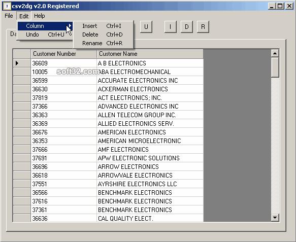 csv2dg Screenshot 2