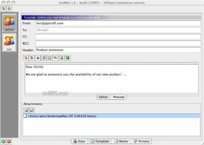 UniMailer (for Mac OS X) Screenshot 2
