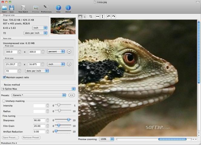 PhotoZoom Pro 4 for Mac Screenshot 2