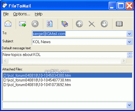 FileToMail(Pro) Screenshot 1