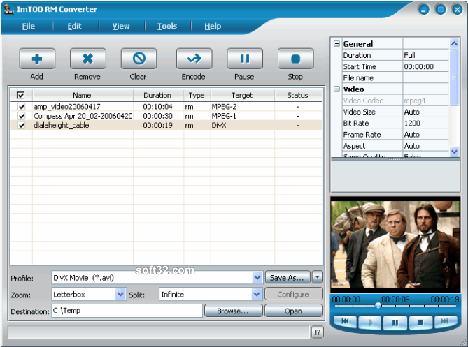 ImTOO RM Converter Screenshot 2