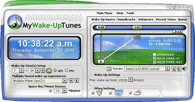 MyWake-UpTunes Screenshot