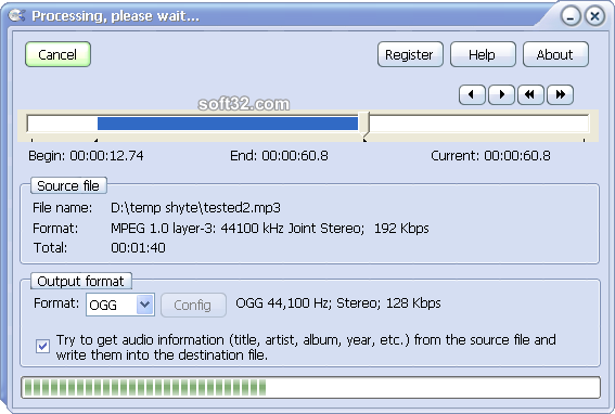 Audio File Cutter Screenshot 4