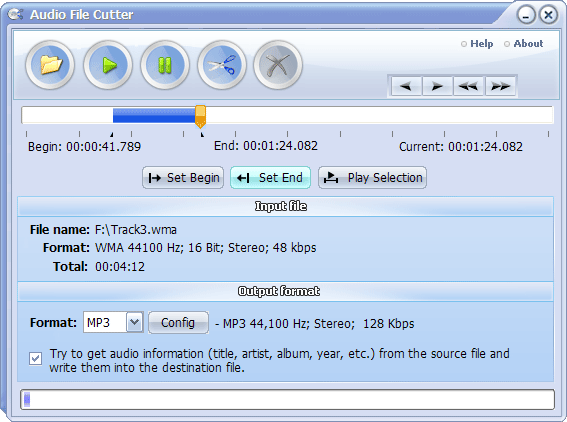 Audio File Cutter Screenshot