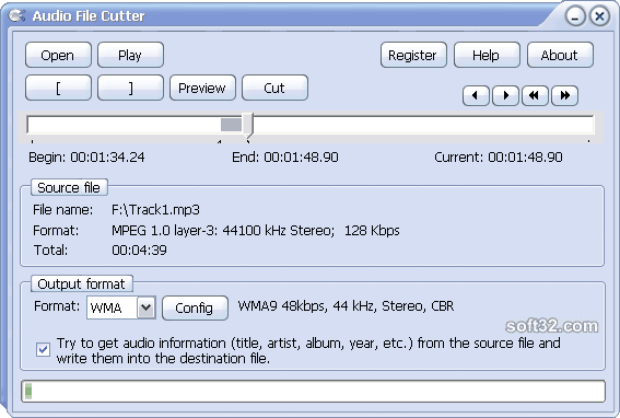 Audio File Cutter Screenshot 2