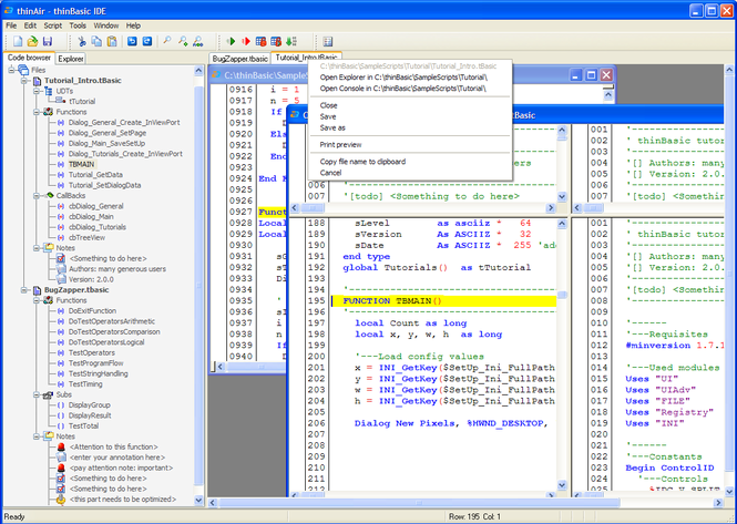 thinBasic programming language Screenshot 2