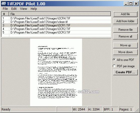 Tiff2PDF Pilot Screenshot 3