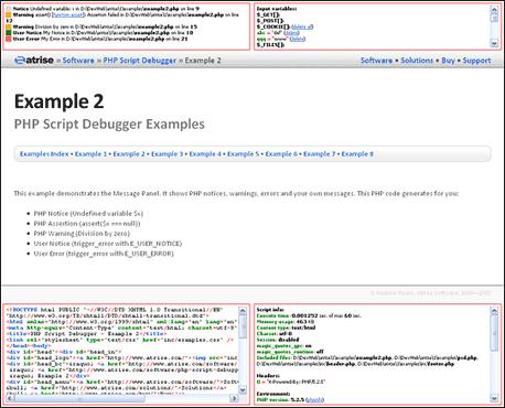 Atrise PHP Script Debugger Screenshot