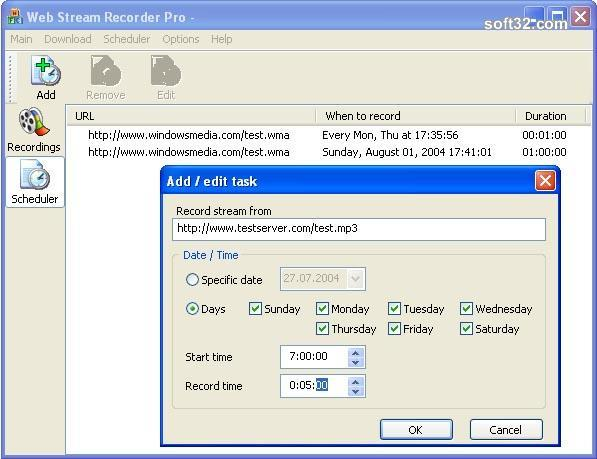 Web Stream Recorder Pro Screenshot