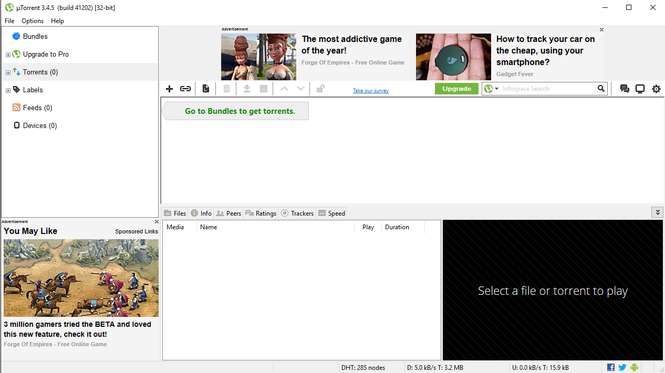 uTorrent Screenshot 1