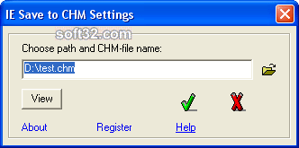 Save to CHM Screenshot 1