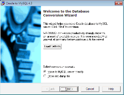 Oracle-to-MySQL Screenshot