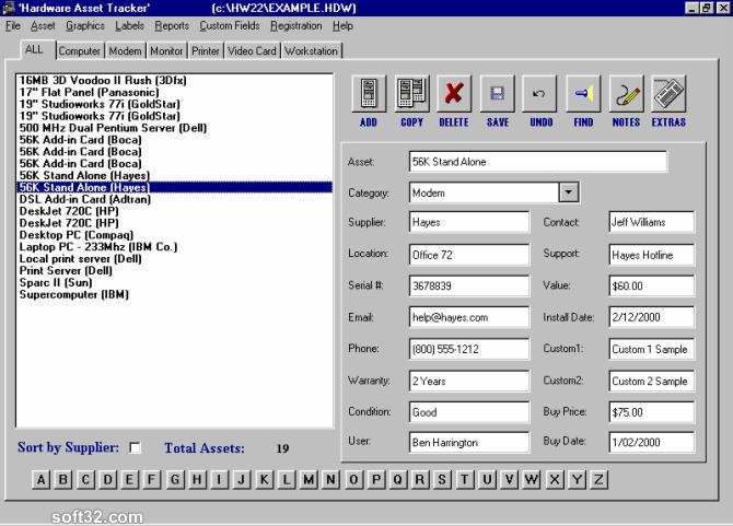 Hardware Asset Tracker Screenshot 2