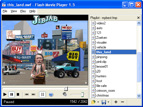 Flash Movie Player Screenshot 1
