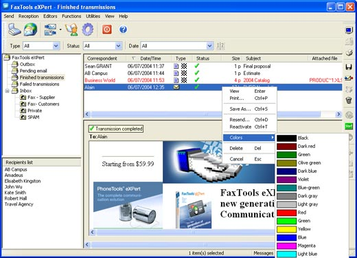 FaxTools eXPpert Screenshot