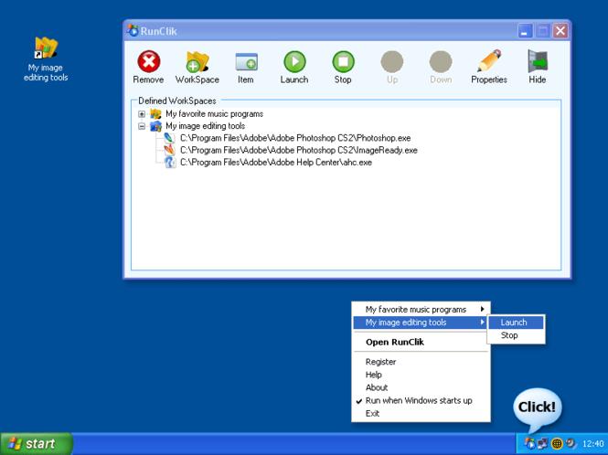 RunClik Screenshot