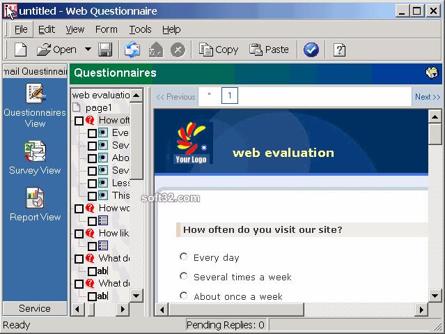 Web Questionnaire Screenshot 2