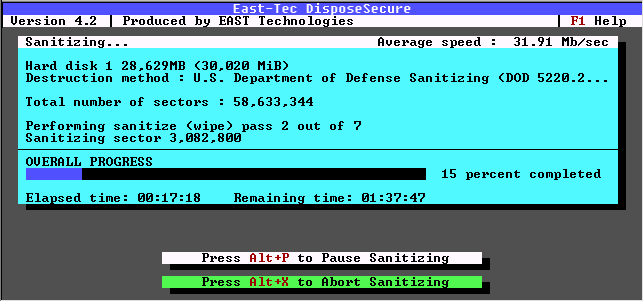 East-Tec DisposeSecure Screenshot