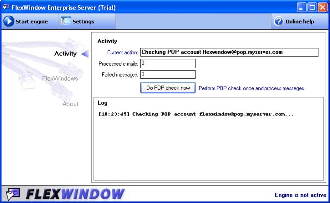FlexWindow Enterprise Server Screenshot