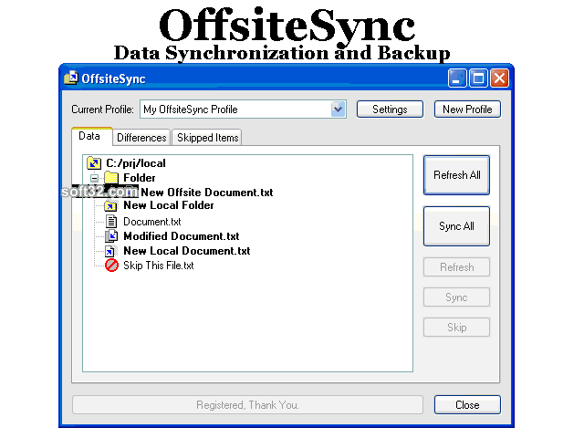 OffsiteSync Screenshot 1