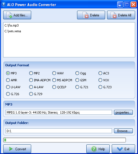 ALO Power Audio Converter Screenshot 1