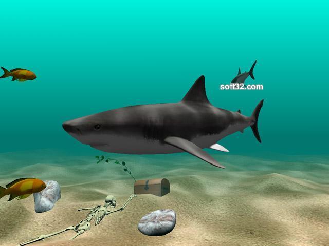 Shark Water World 3D Screensaver Screenshot 2