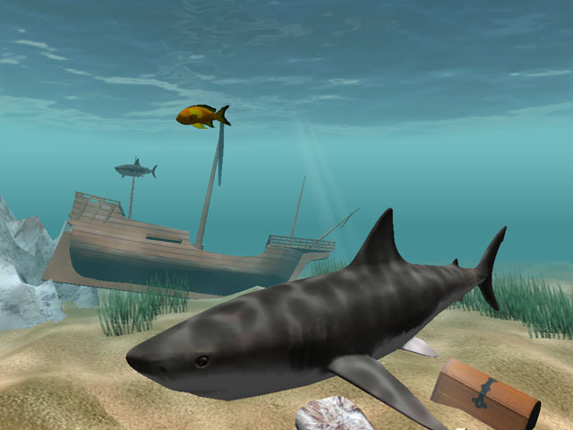 Shark Water World 3D Screensaver Screenshot