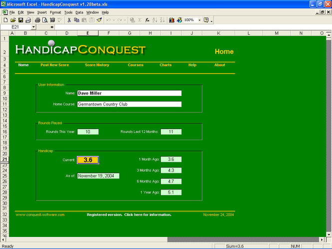 HandicapConquest Screenshot 1