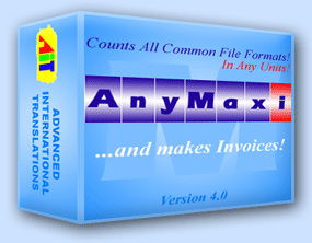 AnyMaxi Text Count Software with Invoice Screenshot