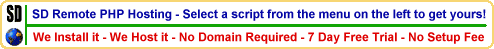 SD Remote PHP Hosting Screenshot 3