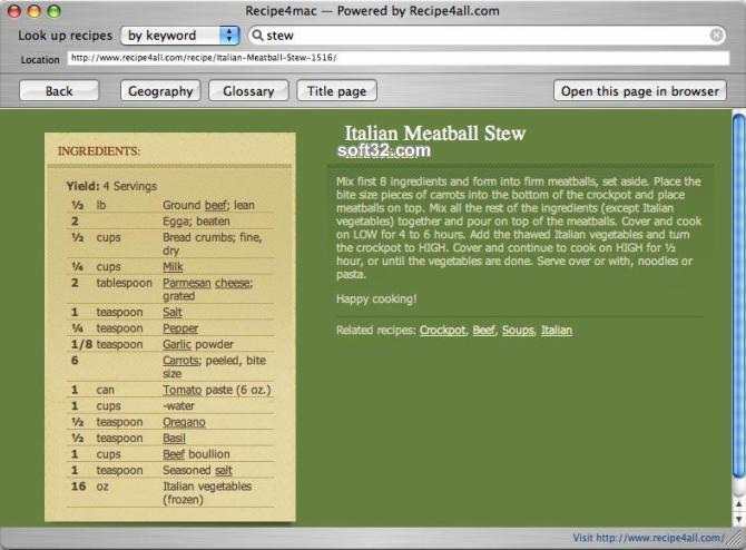 Recipe4mac Screenshot 2