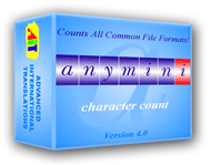 AnyMini C: Character Count Software Screenshot